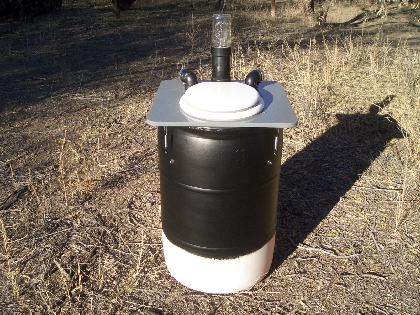 Barrel Composting Toilet System Construction And