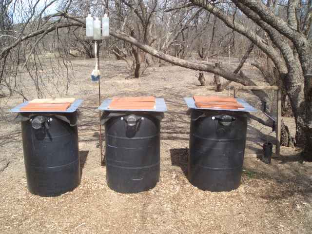 Bucket-to-Barrel Composting Toilet System