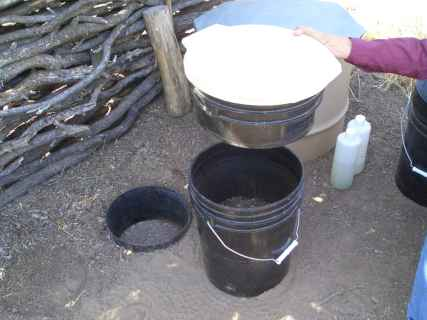 Bucket To Barrel Composting Toilet System